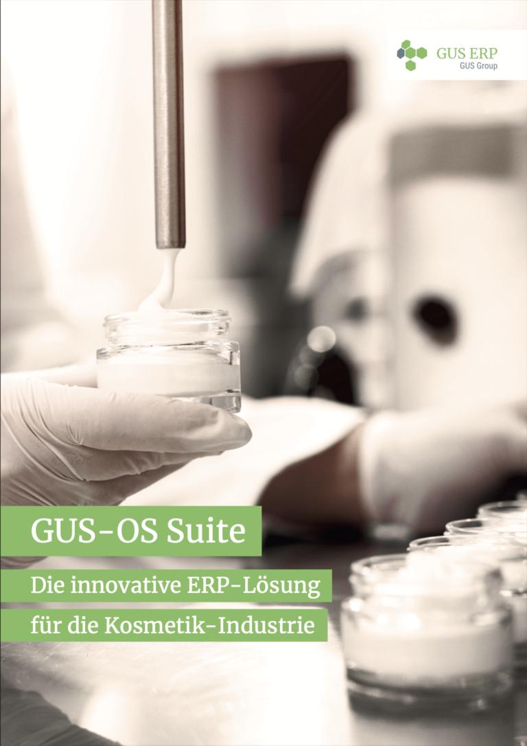 Kosmetik Flyer Cover - GUS-OS Suite - GUS Deutschland