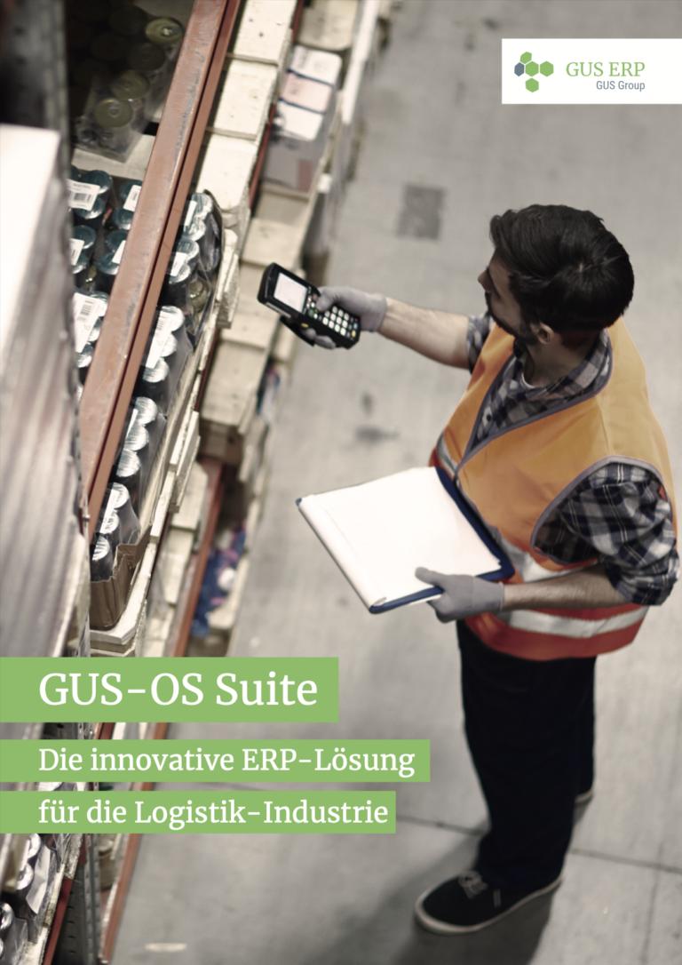 Logistik Flyer Cover - GUS-OS Suite - GUS Deutschland