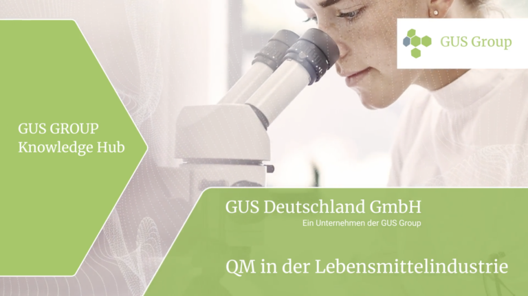 QM Lebensmittelindustrie Cover - GUS-OS Suite - GUS Deutschland